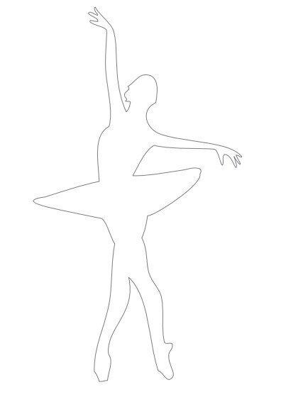 shablon balerinki