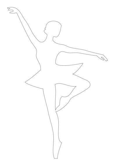 balerinka iz kartona