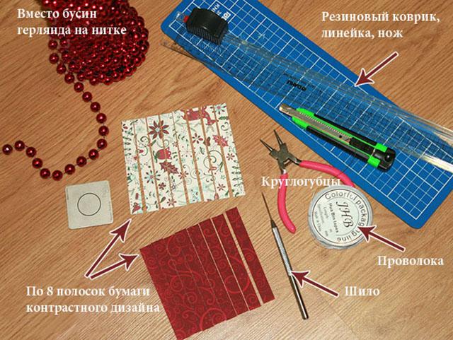 materialy dlya bumazhnogo shara