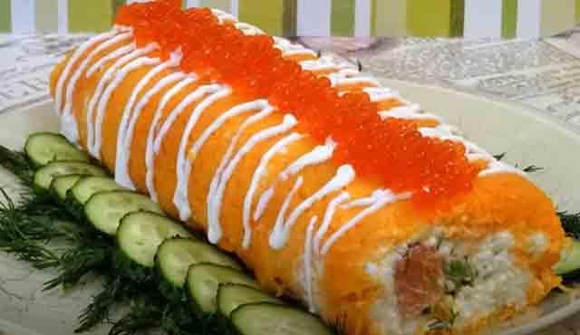 salat rulet s krasnoj ryboj