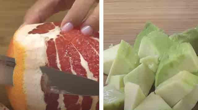 narezka grepfruta i avokado