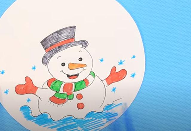 raskrashivanie snegovika