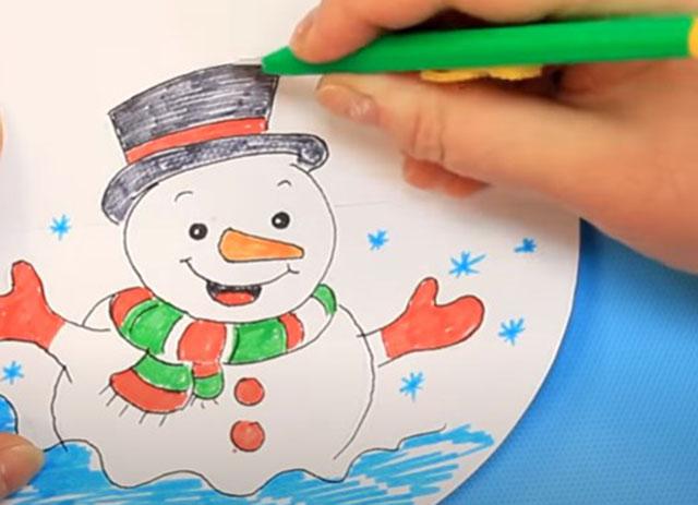 vyrezanie kontura snegovika