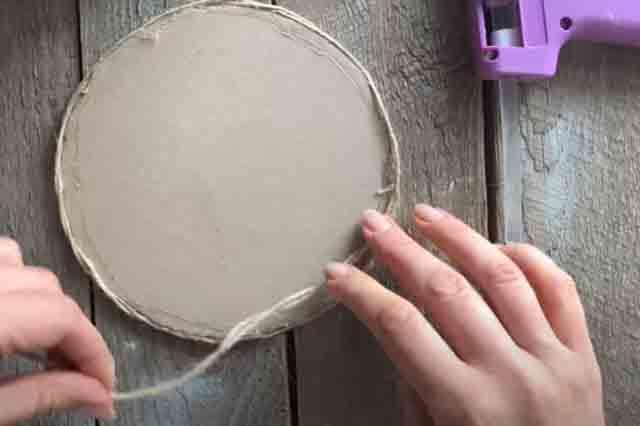 prikleivanie bechevki na krug