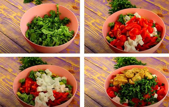 prigotovlenie salat s pekinkoj i kuricej