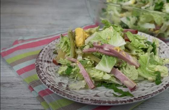 salat iz pekinki s vetchinoj