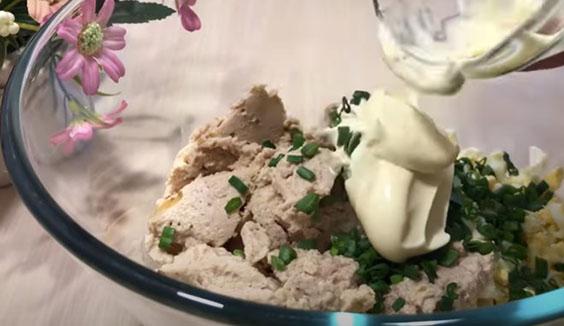 majonez k salatu s pechen'yu treski