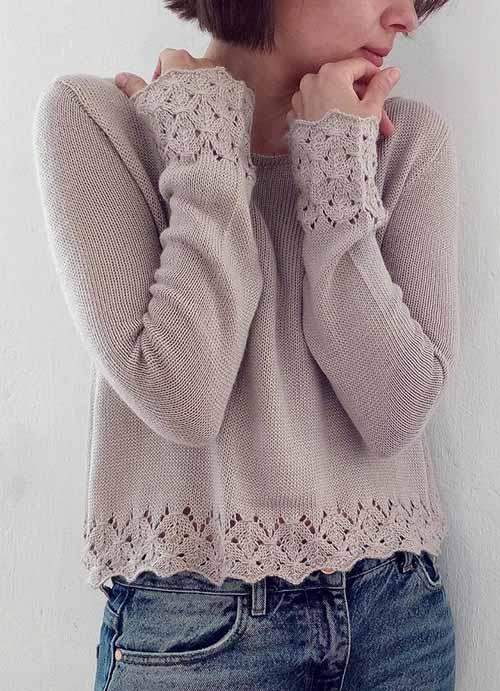 pulover s azhurnymi manzhetami