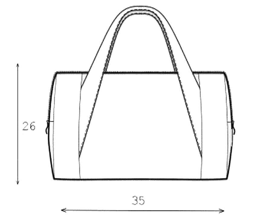 схема сумки - бочонка из джинсовой ткани