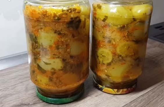 salat iz zelenyh pomidor kak griby
